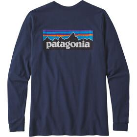 Patagonia P-6 Logo Pitkähihainen Responsibili-Tee Miehet, classic navy